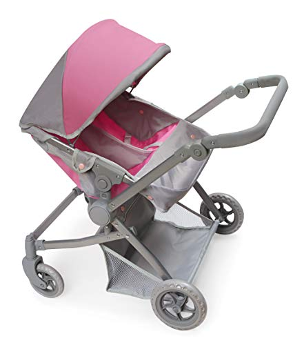 Badger Basket Voyage Twin Carriage Double Doll Stroller (fits American Girl Dolls) (Twin Dolls Pram)
