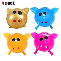 GUCHIS Antistress Decompression Splat Ball Vent Toy Smash Various Styles Pig Toys Squeeze Squishy Funny Toy Venting Water Ball,4pcs
