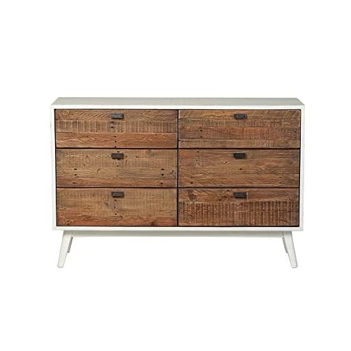 Bedroom Ana Six Drawer Dresser – Farmhouse White dresser