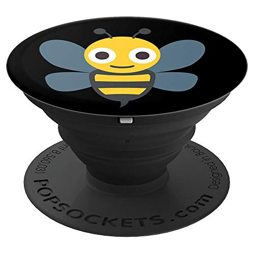 Emoji Honeybee Buzzing Bee in the Air Texting - PopSockets Grip and Stand for Phones and Tablets]()
