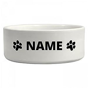 Custom Dog Name Water Bowl: Ceramic Pet Bowl