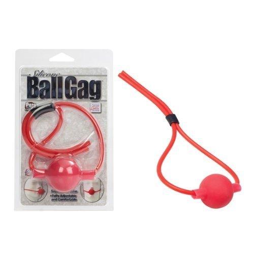 Adjustable Silicone Ball Gag Red