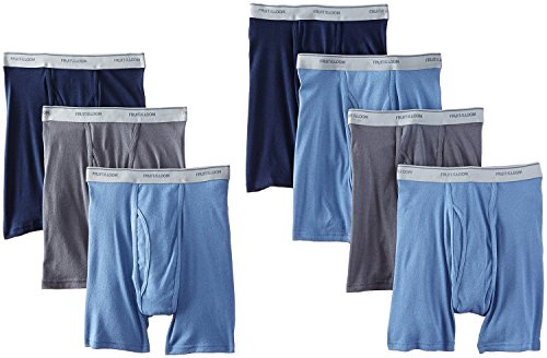 Fruit of the Loom Men's Tag-Free Boxer Brief (Pack of 7) (Assorted, Medium (34-36 Inches))