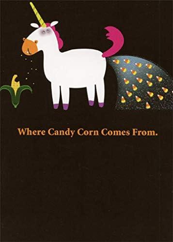 Candy Cane Card Halloween Love Friend Card Candy Corn Card for Boyfriend Card for Girlfriend Happy Halloween Funny Halloween Card