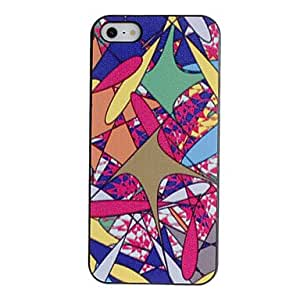 GONGXI-Colorful Flying Fish Pattern Caso duro PC con Negro Marco para el iPhone 5/5S