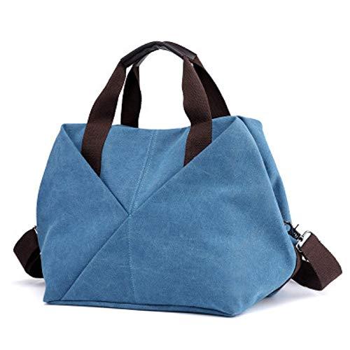 Coudre à Femme Sac pour à ZHRUI Sac à de Banlieue capacité Grande Sac Main Main Bleu à Fil Sac Main Femme TtIIxYqwa