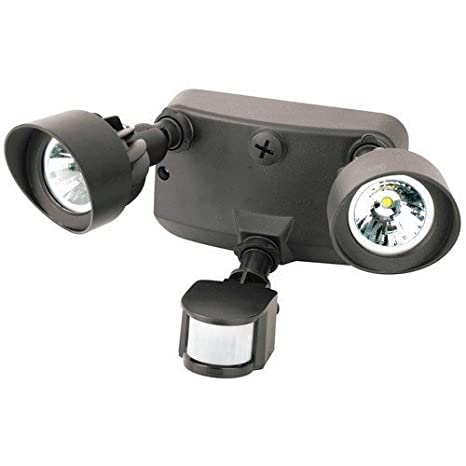 Bronze 120-240V Morris Products 72562BR /& Nameinternal 24W 3000K Dual Head Led Motion Activated Security Flood Light