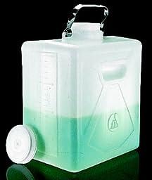 Nalgene Rectrangular Polyethylene 2 Gallon Carboy with Closure