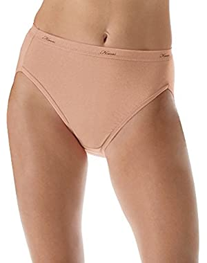 Hanes Women's Cotton Hi-Cut Panty (Pack of 6)