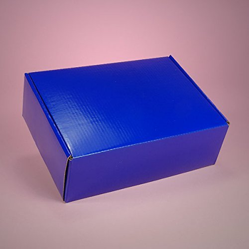 Colored 10ea - 7-1/2x7-1/2x3-1/4 Royal Blue Corr Tuck Top Box-Pkg - Colored Boxes by Paper Mart