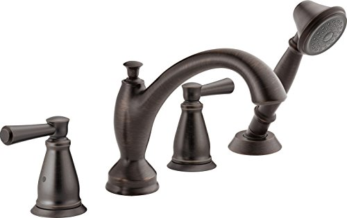 (Delta Faucet T4793-RB Roman Tub with Hand Shower Trim, Venetian Bronze)