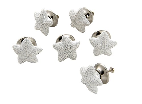 Dritz Home 47014A Ceramic Starfish Knob Handcrafted Knobs for Cabinets & Drawers by Dritz