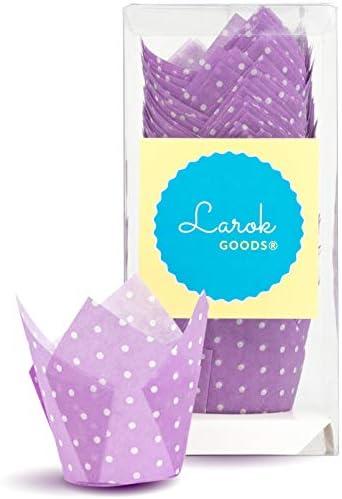 Tulip Cupcake Liners Polka Violet product image