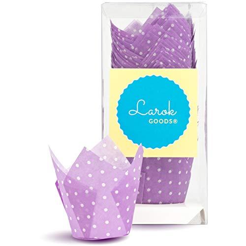 Tulip Cupcake Liners (Polka Violet) | 100 count
