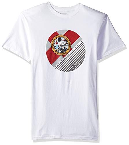 (Quiksilver Men's Florida Corpo Logo TEE, White M)