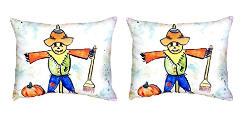Pair of Betsy Drake Scarecrow No Cord Pillows 16 Inch X 20 Inch price