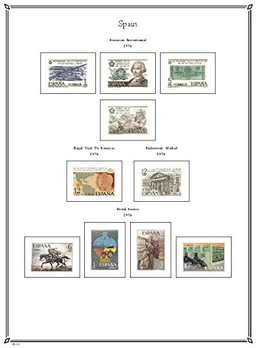 Amazon com: Palo Albums Spain 1975-1992 Stamp Album Pages - Country