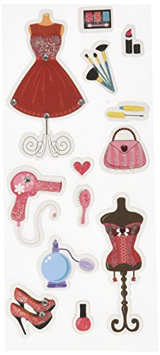 (Multicraft Imports SS808M Total Diva Craft Glitter Stickers,)