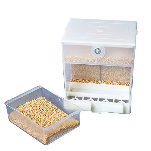 Togather Automatic Bird Feeder, No-Mess Bird Feeder, Cage Accessories for Budgerigar Canary Cockatiel Finch Parakeet Seed Food Container (Bird Feeder)