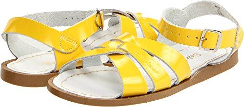 Salt Water Sandals by Hoy Shoe Original Sandal (Toddler/Little Kid/Big Kid/Women's), Shiny Yellow, 10 M US Toddler