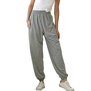 Yoga Trousers, Women's Active Elastic Waist Baggy Workout Sweatpants Joggers Lounge Pants Gray XXL