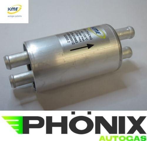 Ph/önix Autogas Filter KME-779 12//12mm-12//12mm Gasfilter f/ür LPG KME Stag etc.