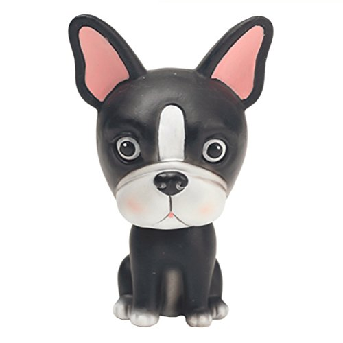Bobble Head Dogs Car Dash Ornaments Puppy Dogs Mascot Rocking Head for Car Vehicle Decoration (Bulldog)