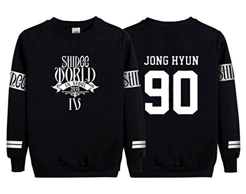 KPOP SHINEE Sweatshirt MIN HO TAEMIN KEY Jong Hyun Pullover Sweater XXL Black