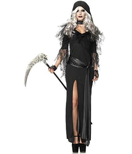 Lady Death Costume (JQUAL Halloween costume, cosplay Women's Sexy Soul Stealer Death (XS, BLACK))