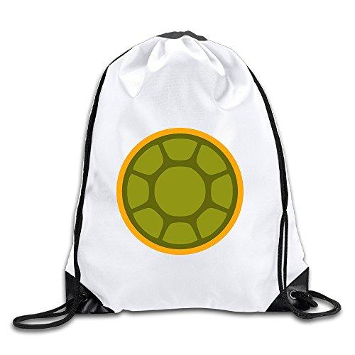 Hunson - Funny Turtle Shell Backpack Sack Bag Drawstring Sling Backpack For Men & Women Sackpack ()