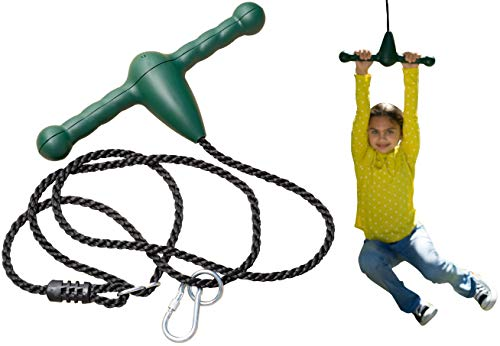 (Jungle Gym Kingdom Trapeze Bar Rope Swing and Spin - Green)