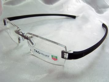 ad0df39624707 Image Unavailable. Image not available for. Color  Tag Heuer 7102 Black  Ruthenium Eyeglasses