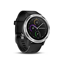 Garmin 010-01769-00 Vivoactive 3 Smartwatch, Black & Stainless, 1.2""