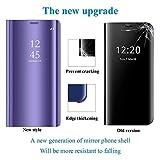 Aidinar for Huawei Nova 5T Case, Mirror Smart Flip