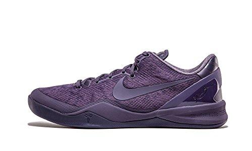Nike Mens Kobe Viii Ftb, Vervagen Tot Zwart-donkere Rozijn / Donkere Rozijn, 8 M Us