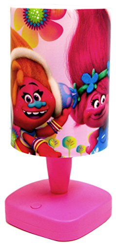 Official Trolls Star&Moon Night Light Lamp,Colour Changing Projection by Trolls Poppy ''Dreamworks