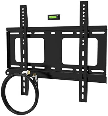 Promounts Apex Medium Flat TV Wall Mount Bracket for 30 to 60 inch with 12 Ft. HDMI Bubble Level