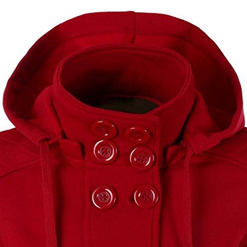 MTTROLI - Sudadera con capucha - para mujer Rosso