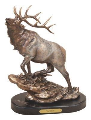 Marc Pierce Signature Collection Herd Bull Elk Sculpture - Montana Bronze Sculptures