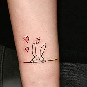 6pcs impermeable etiqueta engomada del tatuaje en el cuerpo del ...