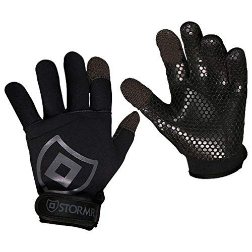 2mm Neoprene Women and Men's Glove - Fully Lined Micro-Fleece Gloves with Adjustable Wrist Closures - Ideal for Ice Fishing, Winter Conditions, and Foul Weather, L ()