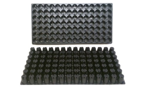 100 Plastic Seed Starting Trays - Each Tray Has 98 Cells ~ Cells Are 1 1/4'' Round X 1 1/2'' Deep. Great Propagation Trays - Full Case by Nursery Supplies