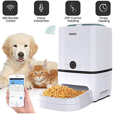 Hh Iseebiz Alimentador Automático De Perros para Gatos con WiFi ...