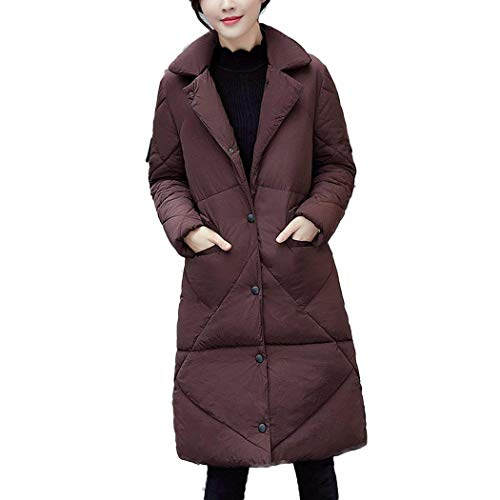 Simple Poches Manches Hiver Outwear Jeune Avant Outerwear Parka Femme Biran Mode Doudoune Boutonnage Revers Chaud Braun Breal Longues YnPwzxfZE