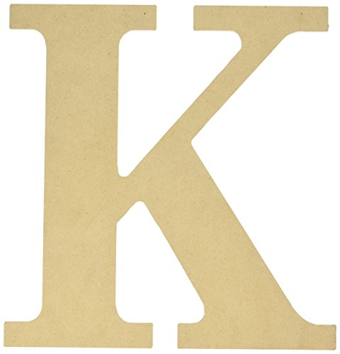 MPI MDF Classic Font Wood Letters and Numbers, 9.5-Inch, Letter-K ()