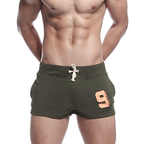 KINGDESON Men's Low-Waisted Sports Running Training Bottoms Lounge/Sleep Shorts