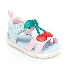 Carter's Every Step Baby Girls Jade Cherry First Walker Shoe, Pink/Mint, 6 Infant