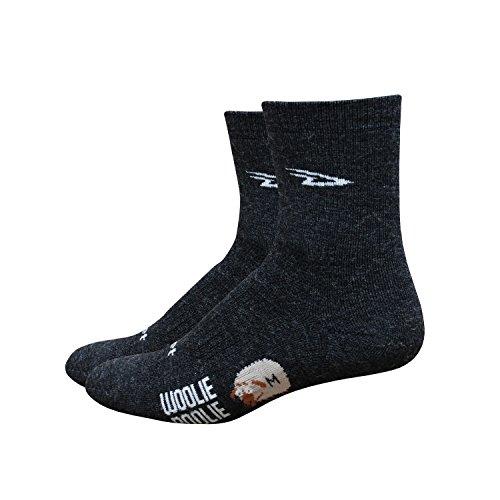 DeFeet Men's Woolie Boolie 4-Inch Sock, Charcoal, Medium