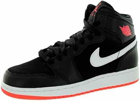 05c200cef48e73 Nike Jordan Kids Air Jordan 1 Retro High GG Black Hot Lava White Basketball