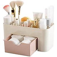 Hojo Cosmetic Storage Box Multi Functional Desktop Tidy Organiser Holder with Drawer Random Colour